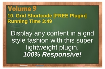 PLR 4 WordPress Vol 9 Video 10 Grid Shortcode