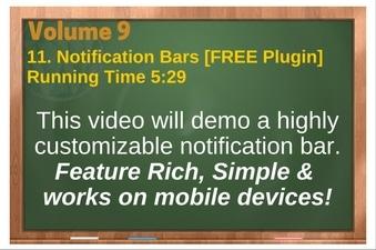PLR 4 WordPress Vol 9 Video 11 Notification Bars