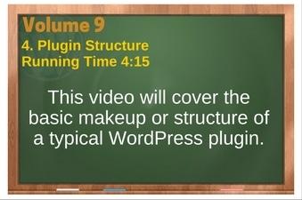 PLR 4 WordPress Vol 9 Video 4 Plugin Structure
