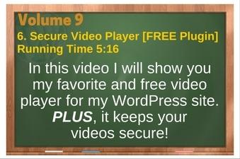 PLR 4 WordPress Vol 9 Video 6 Secure Video Player