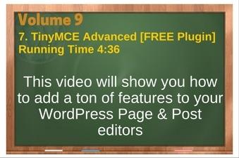 PLR 4 WordPress Vol 9 Video 7 TinyMCE Advanced