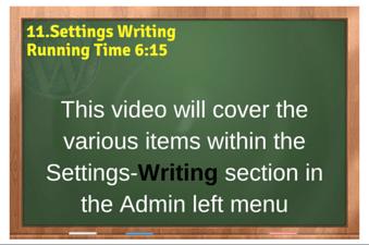 plr4wp Volume 1 Video 11 Settings Writing