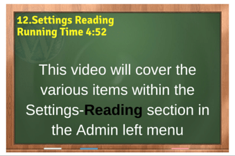 plr4wp Volume 1 Video 12 Settings Reading