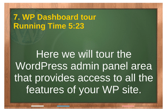 plr4wp Volume 1 Video 7 WP Dashboard tour