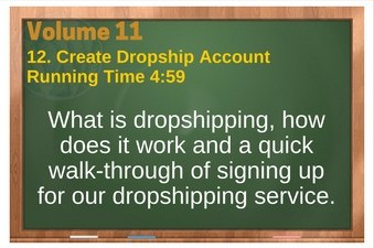 PLR 4 WordPress Vol 11 Video 12 WooCommerce Create Dropship Account