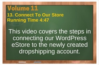 PLR 4 WordPress Vol 11 Video 13 Connect To Our Store