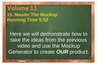 PLR 4 WordPress Vol 11 Video 15 Master The Mockup