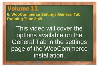 PLR 4 WordPress Vol 11 Video 6 WooCommerce Settings-General Tab