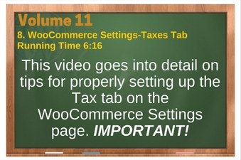 PLR 4 WordPress Vol 11 Video 8 WooCommerce Settings-Taxes Tab