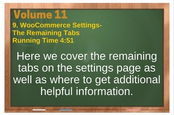 PLR 4 WordPress Vol 11 Video 9 WooCommerce Settings-Tabs (The rest of them - Shipping, Checkout, Accounts, Email and API tabs)