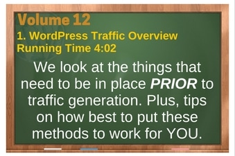 PLR 4 WordPress Vol 12 Video 1 WordPress Traffic Overview