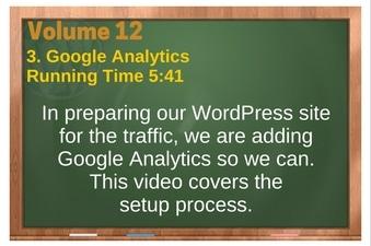 PLR 4 WordPress Vol 12 Video 3 Google Analytics