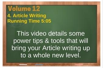 PLR 4 WordPress Vol 12 Video 4 Article Writing