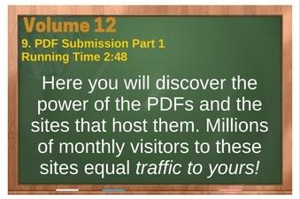 PLR 4 WordPress Vol 12 Video 9 PDF Submission Part 1