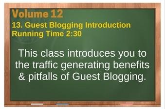 PLR 4 WordPress Vol 12 Video 13 Guest Blogging Introduction