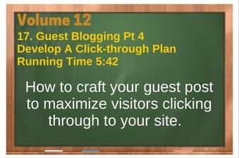 PLR 4 WordPress Vol 12 Video 17 Guest Blogging Part 4 Develop A Click through Plan