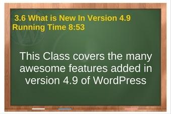 PLR 4 WordPress Vol 1 Video 3.6 Whats New In Version 4.9 of WordPress