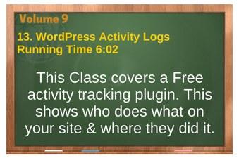 plr4wp Vol 9 video 13 WordPress Activity Logs