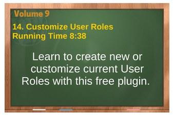 plr4wp Vol 9 video 14 Customize User Roles