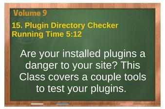 plr4wp Vol 9 video 15 Plugin Directory Checker