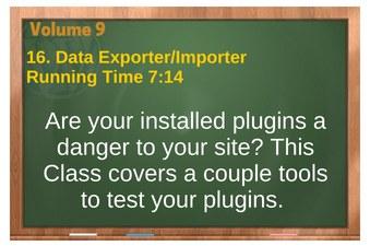 plr4wp Vol 9 video 16 Data Exporter-Importer