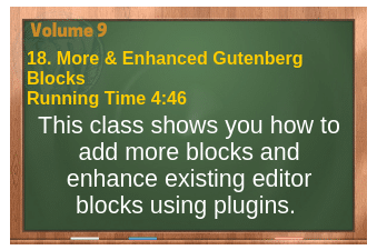 plr4wp Vol 9 video 18 Plugins for more blocks and how to enhance existing blocks