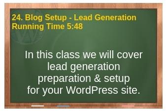 plr4wp Volume 1 Video 24 Blog Setup - Lead Generation