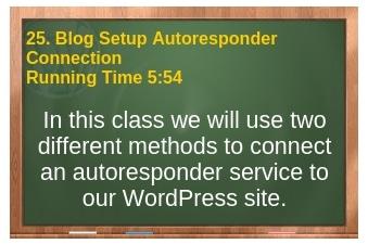 plr4wp Volume 1 Video 25 Blog Setup - Autoresponder Connection
