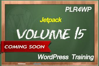 PLR for WordPress Volume 15 Jetpack Coming Soon
