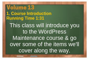 PLR for WordPress Volume 13 Video 1. Course Introduction