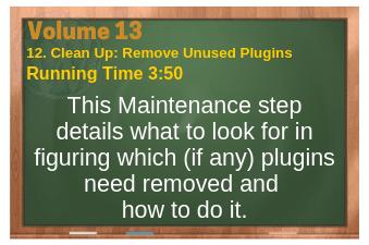 PLR for WordPress Volume 13 Video 12. Clean Up: Remove Unused Plugins