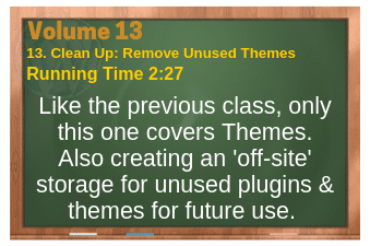 PLR for WordPress Volume 13 Video 13. Clean Up: Remove Unused Themes