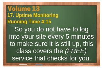 PLR for WordPress Volume 13 Video 17. Uptime Monitoring
