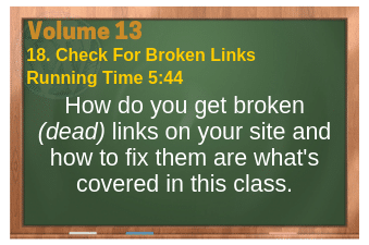 PLR for WordPress Volume 13 Video 18. Check For Broken Links