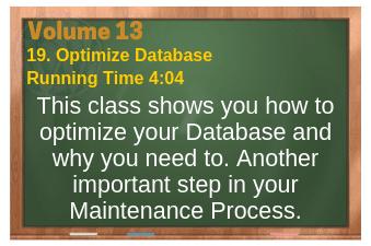 PLR for WordPress Volume 13 Video 19. Optimize Database