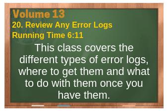 PLR for WordPress Volume 13 Video 20. Review Any Error Logs