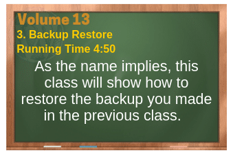 PLR for WordPress Volume 13 Video 3. Backup Restore