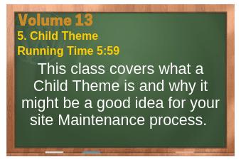 PLR for WordPress Volume 13 Video 5. Child Theme