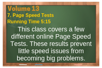 PLR for WordPress Volume 13 Video 7. Page Speed Tests