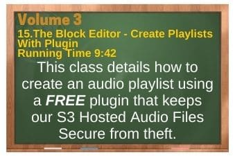 plr4wp Vol 3 Video 15 The Block Editor - Create Playlists With Plugin