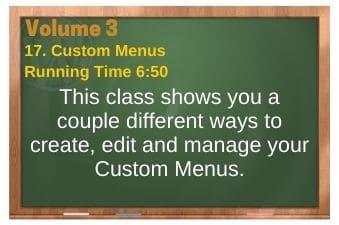 plr4wp Vol 3 video 17 Custom Menus