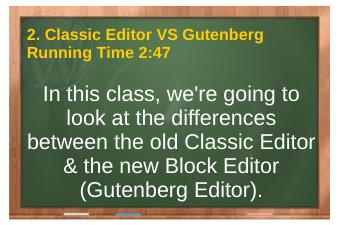 PLR4WP Volume 14 video 2. Classic Editor VS Gutenberg