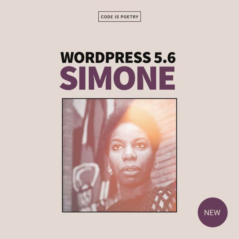 What is new in WordPress 5.6 major release Nina Simone cover image