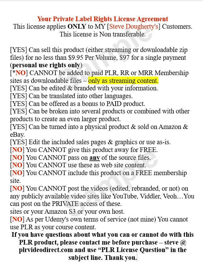PLR4WP All Volumes Sample License