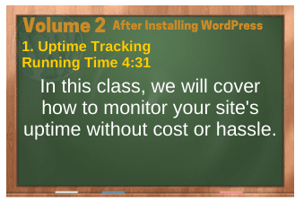 After Installing WordPress video 1. Uptime Tracking