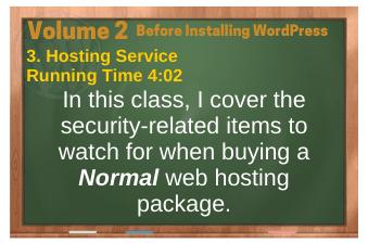 Before Installing WordPress video 3. Hosting Service