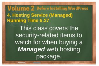 Before Installing WordPress video 4. Hosting Service (Managed)