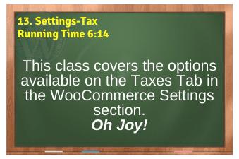 WordPress eCommerce PLR4WP Vol11 Video 13-Settings-Tax Tab