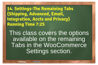WordPress eCommerce PLR4WP Vol11 Video 14 Settings-The Remaining Tabs (Shipping, Advanced, Email, Integration, Accts and Privacy)
