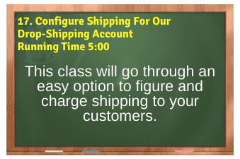 WordPress eCommerce PLR4WP Vol11 Video 17-Configure Shipping For Our Drop-Shipping Account